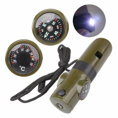 Multifunctional Military Survival Kit Magnifying Glass Whistle Compass Thermometer LED Light - Xayvar outdoor store, outdoor sports stores, outdoor sporting goods stores, outdoor gear stores, outdoor camping stores, outdoor retail stores, outdoor apparel stores, outdoor wear stores, best outdoor stores, outdoor hiking stores, outdoor sporting good stores, outdoor hunting and fishing stores, sports outdoor stores, outdoor sports equipment stores, outdoor & camping stores,