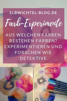 Experiments for children: What do colors consist of? Diy And Crafts, Crafts For Kids, Early Education, Science Classroom, Creative Kids, Art School, Kids Learning, About Me Blog, Children