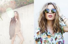 Left: Leo Spiked Moto Jacket, Metallic Pop Knit, Right: Elegant Affair Dress, Factory Girl Shades, Assorted Jewelry