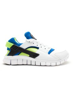 745b5e42cc77 Cheap Nike Huarache Free Run White White Soar Cyber Trainer Sales