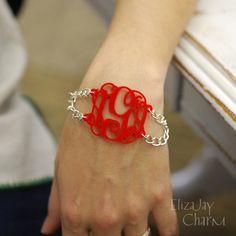 entwined duo acrylic monogram bracelet (an original ElizaJayCharm design)