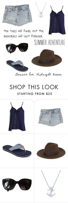 """""""Summer love. Midnight kisses"""" by frizzynorse ❤ liked on Polyvore featuring Sans Souci, Madewell, Tommy Hilfiger, Yves Saint Laurent, Chanel and BERRICLE"""