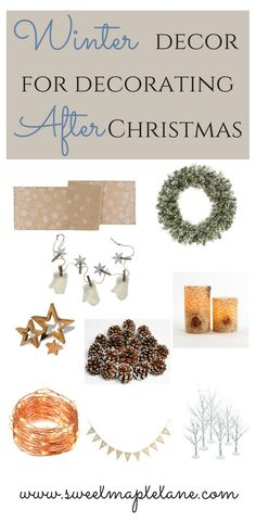 Wondering how to decorate after Christmas is over? Check out these winter decor ideas!