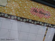 Dry erase calendar! Bet you butt I'm making this!