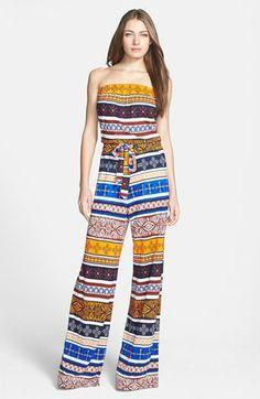 Diane von Furstenberg 'Ani' Print Silk Jumpsuit | Nordstrom. Gaaf model