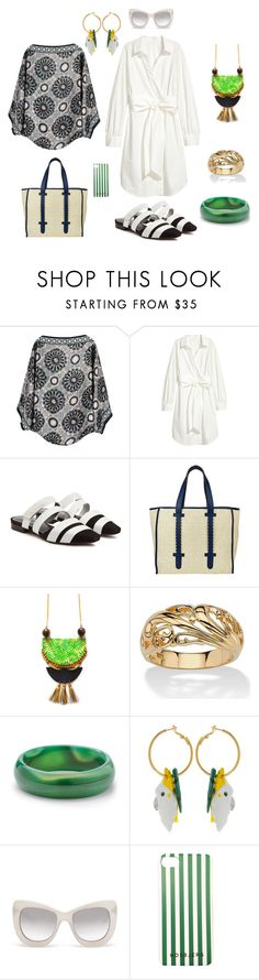 """""""beach vacation"""" by moestesoh ❤ liked on Polyvore featuring nooki design, Neous, Asha by ADM, Palm Beach Jewelry, Nach and Le Specs Luxe"""