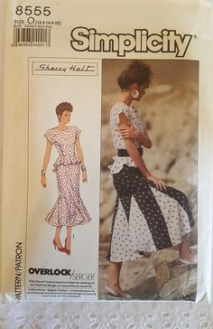 d099251ed3b Items similar to Simplicity 8555 ~ Sherry Holt Peplum Top and Gored Skirt  CUTE! ~ Size  12 14 16 ~ 1988 ~ Pattern ~ Uncut Sewing Pattern ~ GRTLPAT on  Etsy