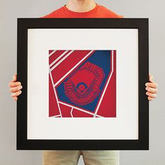 Map art print including the aerial view of Fenway Park located in Boston, Massachusetts by City Prints Map Art.