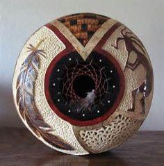 gourd art bonnie gibson - Great artist & great teacher! | Gourds