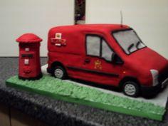 bobs bakes post office van cake