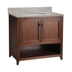 Foremost Saludar 36-in. Single Bathroom Vanity with Optional Mirror -  plain shaker doors instead of the insets