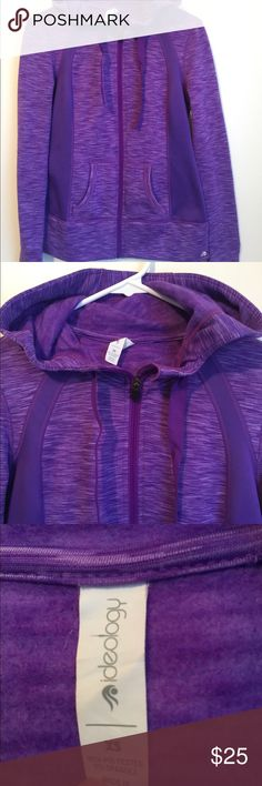 Athletic zip up jacket ideology size XS worn once Worn once, was too small for me. Feels like a Lululemon track jacket! Super cute color and extremely comfortable and soft. Was given to me for Christmas. Ideology Jackets & Coats