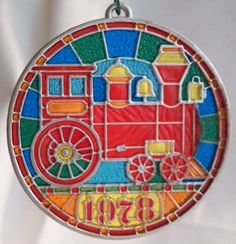 1978 WX3563 Colors of Christmas Locomotive Hallmark Keepsake Orna | vintage hallmark collectibles artwork home decor belleek lalique