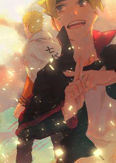 Pixiv Id 7931645, NARUTO, Uzumaki Boruto, Uzumaki Naruto, Father And ... Read Naruto Manga Online