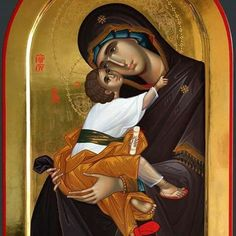 Byzantine Art, Byzantine Icons, Religious Icons, Religious Art, Christ The Good Shepherd, Faith Of Our Fathers, Greek Icons, Catholic Pictures, Images Of Mary