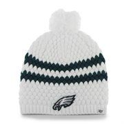 9a8deaea4af Philadelphia Eagles  47 Brand Womens Kendall Uncuffed Pom Knit Beanie –  White Eagles Fans