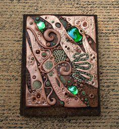 Custom Journal Cover in Copper and Umber by MandarinMoon.deviantart.com on @deviantART