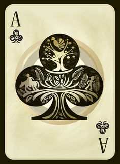 Trebol - Playing Card - BRJS Art Print
