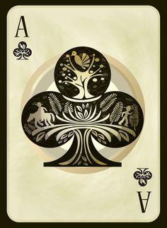 Trebol - Playing Card - BRJS Art Print