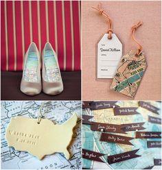 Map Inspiration - map as shoe liners, that's unique!
