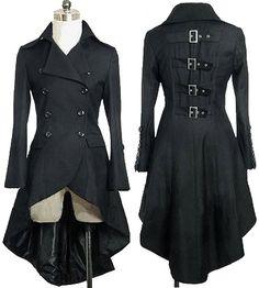 Gothic Aristocrat Metal Buckle Tail Coat ♥
