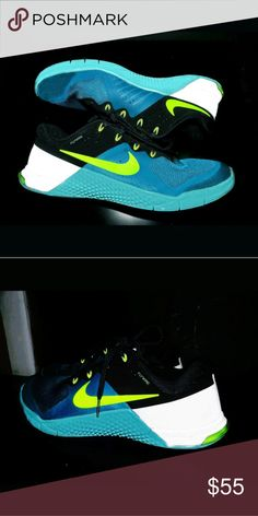 low priced bbcc0 0d14f Nike Metcon 2 crossfit mens training shoes FLYWIRE 819899 334 Size 12 Green  Abyss Gamma