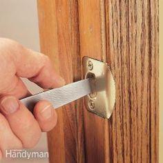 Adjusting a Door Strike Plate