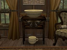 ModTheSims - Chamber Pot and Bowl Sink