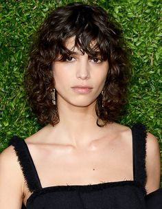The Fall Haircut All the Cool Girls Have Mica Arganaraz proves the shag haircut works for curly hair, too Curly Hair Model, Curly Hair With Bangs, Curly Hair Cuts, Short Hair Cuts, Curly Hair Styles, Haircuts For Curly Hair, Curly Bob Hairstyles, Hairstyles With Bangs, Curly Shag Haircut