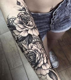 Black ink Tattoo by Dmitriy Tkach, Ukraine #tattoo #tattoos #blackink #blacktattoink #rose #rosetattoo #tattooart #tattrx #tatoo #tats #ink #inked #tatouage #tatuaje #tattooist #tattooartist #tattoolife #tattomag #tattooworld #worldtattoogallery...