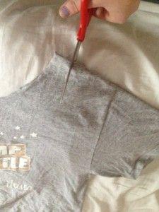 Cut an Old T-Shirt into a Workout Tank Top   Budget Savvy Diva