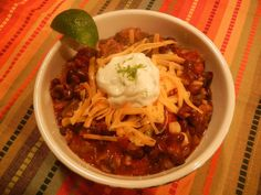 Spicy Southwestern Black Bean Chili w/Lime Scented