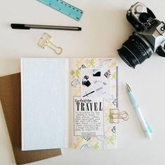 (12/30) #30daygratitudemini Traveler's Notebook by Sarah Zayas (FYC The Great Escape stamp set designed by Brandi Kincaid)