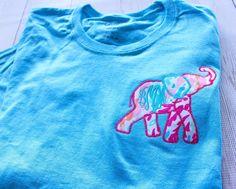 Monogrammed Lilly Pulitzer Applique Elephant TShirt