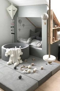 Pet nook under stairs Baby Bedroom, Baby Boy Rooms, Baby Room Decor, Girls Bedroom, Bedroom Decor, Scandinavian Baby Room, Scandinavian Style, White Kids Room, White Boys