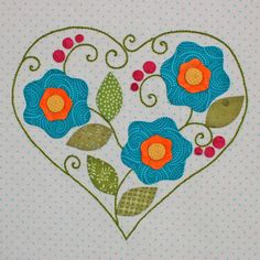 Be Happy Applique Block 2 from Erin Russek at One Piece at a Time