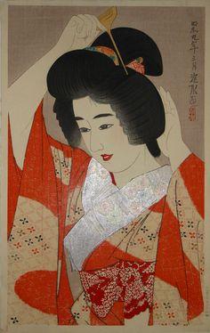 ITO SHINSUI, was the pseudonym of a Nihonga painter and ukiyo-e woodblock print artist in Taishō and Shōwa period Japan. - High Resolution