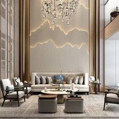 48 modern home design ideas that will spark so much joy 17 Lobby Interior, Luxury Homes Interior, Living Room Interior, Living Room 3ds Max, Home Design, Interior Design, Design Ideas, Design Inspiration, Hotel Lobby Design