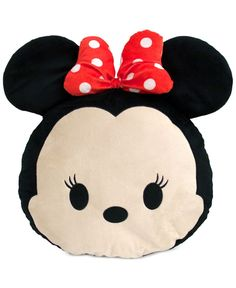 "Your little one will love cozying up to Disney's Tsum Tsum Minnie decorative pillow. | Polyester/polyurethane | Spot clean | Imported | Dimensions: 18"" x 15"" x 3.5"" 