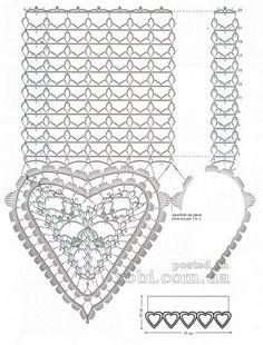 вязаная занавеска 029 Filet Crochet, Crochet Motif, Crochet Lace, Crochet Patterns, Crochet Curtains, Crochet Skirts, Crochet Tablecloth, Crochet Dollies, Crochet Blocks