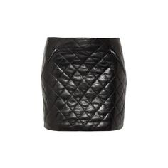 DIANE VON FURSTENBERG DARIA QUILTED LEATHER MINI SKIRT