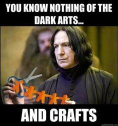 crafting humor, craft memes, crafting memes, crafting fails, Harry Potter, Professor Snape