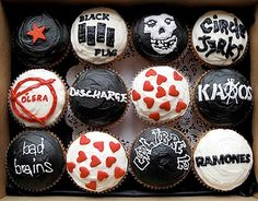 Punk Rock Cupcakes - I so need to do this for my honey!