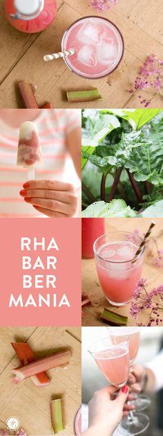 RhaBarBerMania, ganz verrückt nach Rhabarber, Rezepte für Rhabarbersaft, Rhabarberprosecco & Icepops