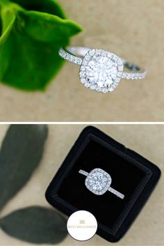 Affordable 1.95 Carat D SI2 Round Center diamond is mounted along with 0.36 Carat Side diamonds in a 14K White Gold Halo Style Setting on a delicate shank. To learn more about this ring and to have actual video, please contact us. Order Now and get 30 day money back guarantee & 5 years gold warranty.   Affordable Diamond Engagement Rings + Bands   Simple Jewelry for Brides   Unique Weddings