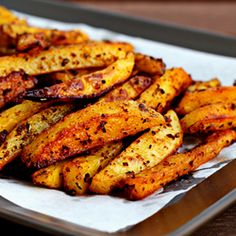 Man-Approved Spicy Oven Fries. Recipe with step-by-step pictures...