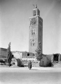 Marrakech Mosquée de la Kouttoubia Minaret 1925 (vers)