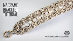 Macrame Double Wave Bracelet Tutorial in Vintage Style with Beautiful Blue Danube by Strauss.