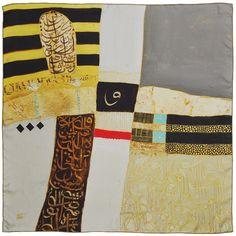 Annada Silk Art Scarf 'Metallic' – Saudi Gifts