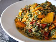 Wärmendes Kürbis-Spinat-Linsen-Gericht